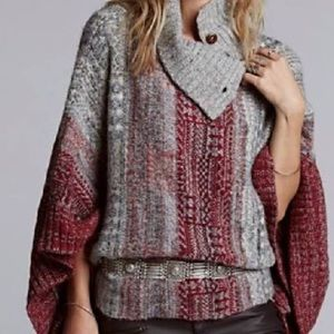 Free people willow poncho sweater